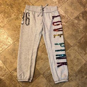 Victoria's Secret PINK Rainbow Sequin Sweatpants